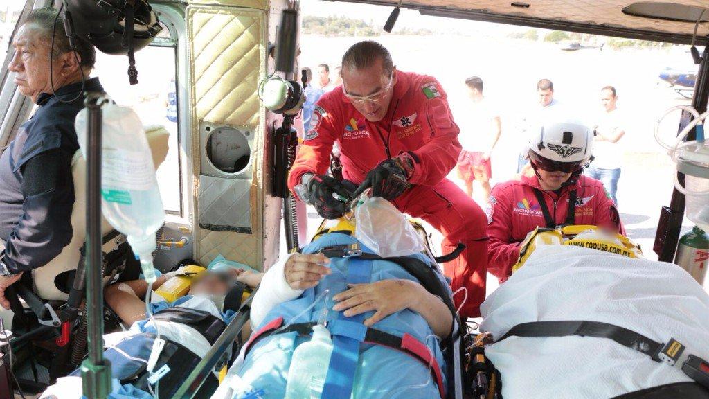 Tres de los lesionados se reportaron en estado crítico. (Twitter: @MICHOACANSSP)