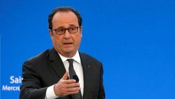 El presidente francés, François Hollande, pronuncia un discurso mientras asiste al lanzamiento del proyecto campus universitario Grand Paris-Nord (Reuters)