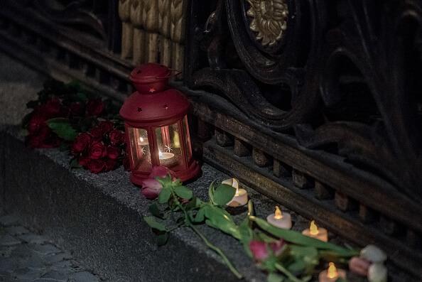 Homenaje a víctimas del atentado en Petersburgo, Rusia. (Getty images)