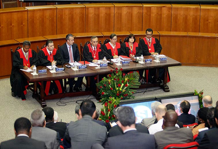 Integrantes del Tribunal Supremo de Justicia de Venezuela. (Twitter @TSJ_Venezuela, Archivo)