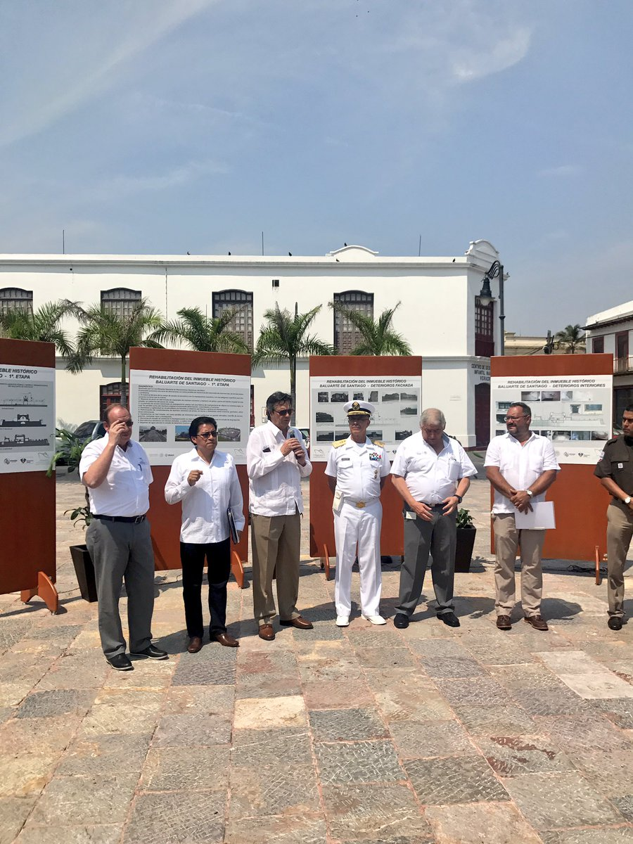 Invertirán 6 millones de pesos para restaurar el Baluarte de Santiago en Veracruz (Twitter @RuizdeTeresaG)