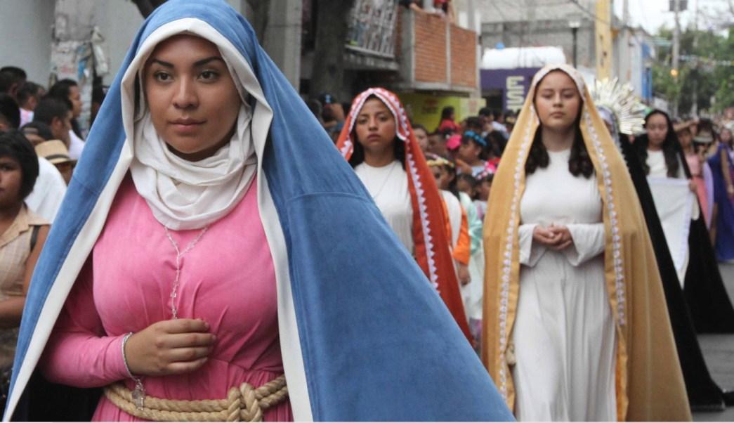 En Iztapalapa, todos los visitantes esperaron con alegría las representaciones en distintos puntos de la demarcación. (Notimex)