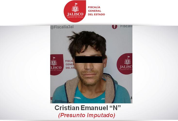El presunto homicida fue localizado y aprehendido por los agentes de la Policía Investigadora muy cerca de su domicilio en Tlaquepaque (Fiscalía de Jalisco)