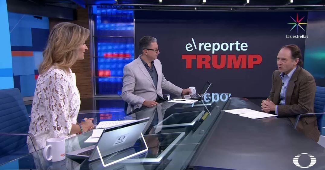 Javier Tello presenta el Reporte Trump en Despierta con Loret. (Twitter, @NTelevisa_com)