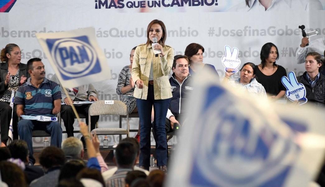 Josefina Vázquez Mota, candidata del PAN al gobierno del Edomex. (Twitter: @JosefinaVM)
