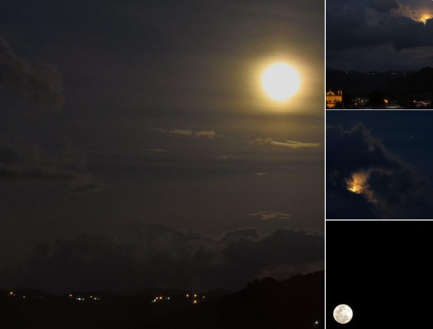 """La """"Luna rosa"""" desde San Cristóbal de las Casas, Chiapas (Twitter @webcamsdemexico)"""