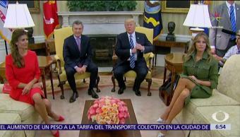 Macri habla de limones en la Casa Blanca y Trump protesta