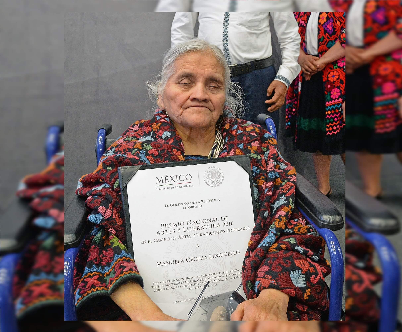 Muere artesana Manuela Cecilia Lino, Premio Nacional de Artes y Literatura