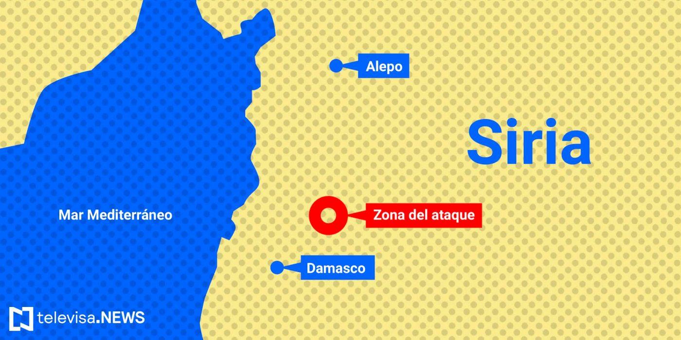 Mapa del ataque en Siria. (Noticieros Televisa)