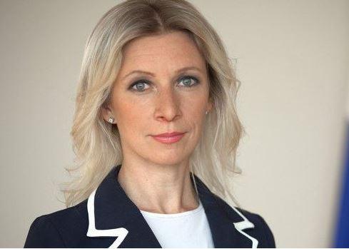 La portavoz de la cancillería rusa, María Zajárova. (@EmbRusPan)