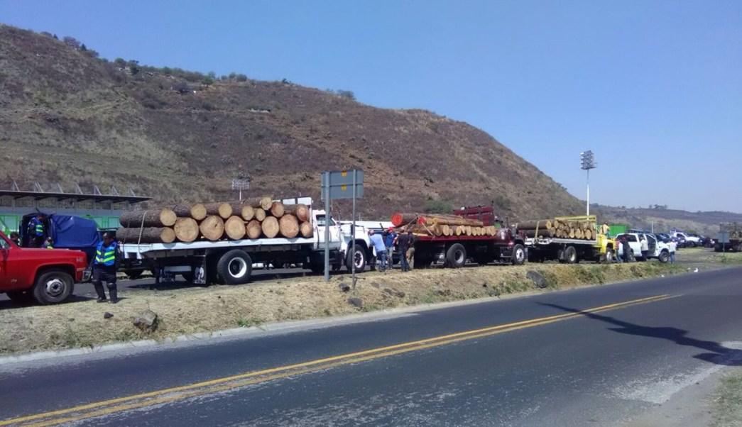 Megaoperativo de autoridades federales y CDMX en Milpa Alta. (Twitter @PROFEPA_Mx)