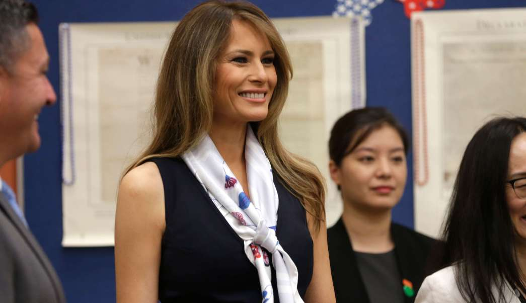 Melania Trump, primera dama de Estados Unidos (AP)