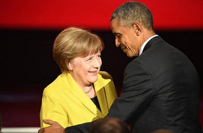 El expresidente estadounidense Barack Obama y la canciller alemana, Angela Merkel (Getty Images/archivo)
