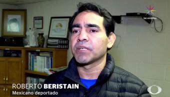 Este jueves, Roberto Beristaín llegó a Ciudad Juárez, deportado de Estados Unidos, luego de semanas en prisión; su esposa votó por Donald Trump. (Noticieros Televisa)