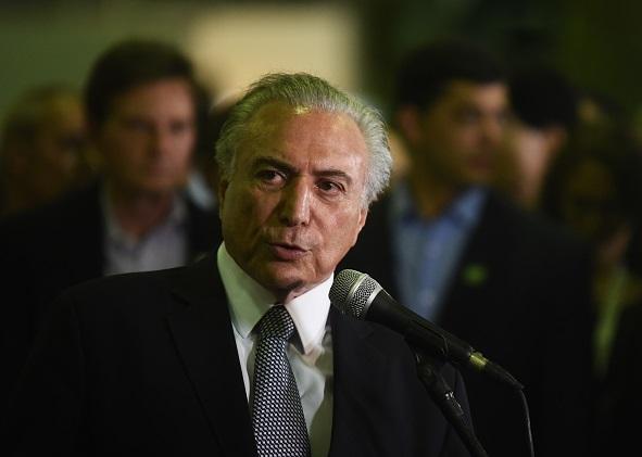 Michel Temer, presidente de Brasil.