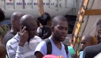 Migrantes haitianos en Tijuana, Baja California (Noticieros Televisa)