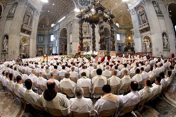 El papa Francisco inició el Jueves Santo en la Basílica de San Pedro. (Getty Images)