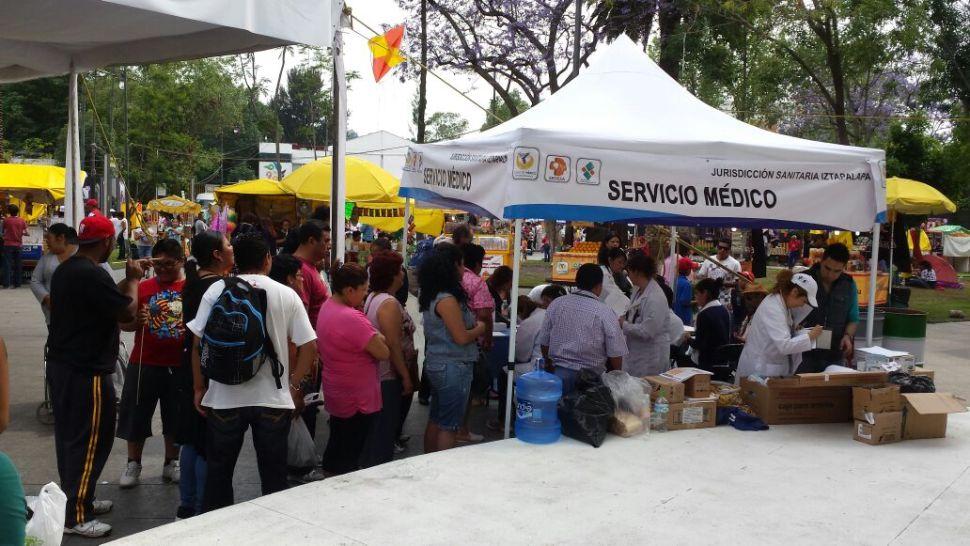 Módulo de atención sanitaria en Iztalalapa (Sedesa)