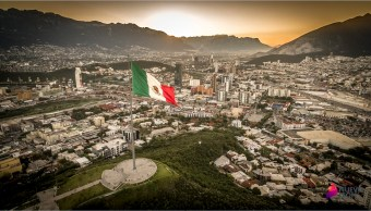 Vista panorámica de Monterrey, Nuevo León; la zona metropolitana registra temperaturas de hasta 42 grados (NTX)
