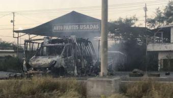 """El sábado pasado, luego de que """"El comandante Toro"""" muriera en un enfrentamiento con fuerzas federales se registraron incendios (Twitter @lopezdoriga)"""