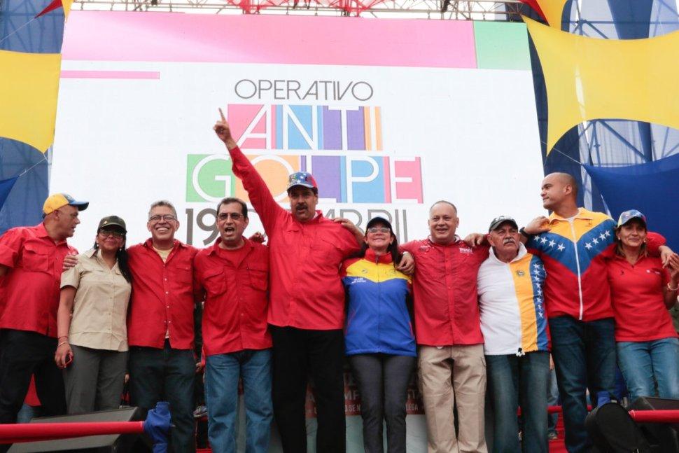Nicolás Maduro, presidente de Venezuela, ofreció un discurso en las calles de Caracas.