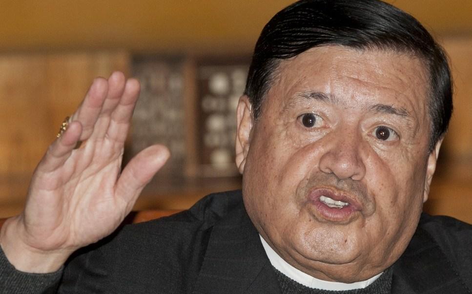 El cardenal Norberto Rivera en la Ciudad de México (AP/archivo)