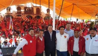 Óscar González Yáñez, candidato del Partido del Trabajo al gobierno del Estado de México (Twitter @OscarGonzalezYa)