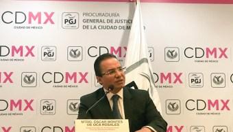 Óscar Montes de Oca Rosales, subprocurador de Averiguaciones Previas Desconcentradas de la PGJ capitalina. (Twitter: @PGJDF_CDMX)