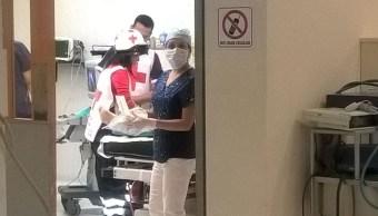 Dan de alta a tres de las seis personas lesionadas que fueron trasladadas al hospital de Polanco tras derrumbe de una obra. (@CruzRoja_MX)