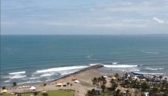 Panorámica de una playa en Veracruz. (Twitter @PlayasMexicoWeb)