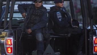 Efectivos de la Policía Federal División Gendarmería, Ejército Mexicano y elementos de la Fuerza Estatal resguardan la zona urbana de Acapulco (Getty Images/archivo)