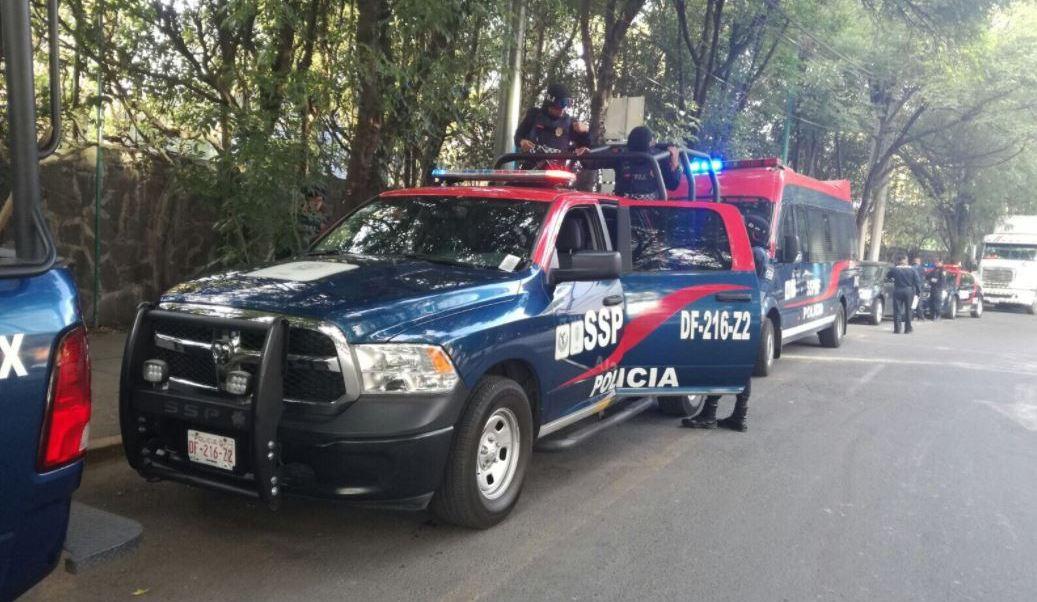 Policías vigilarán transcurso de las marchas (Twitter @SSP_CDMX)