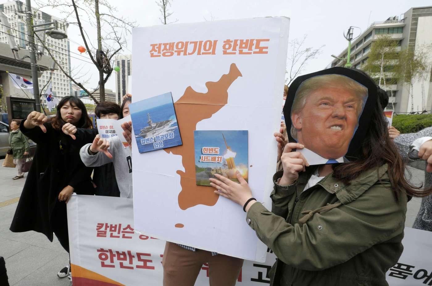 Protesta en Surcorea contra declaraciones de Donald Trump (AP)