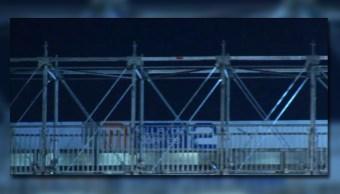 Estructura que funcionará como puente sobre la calzada de Tlalpan (Noticieros Televisa)
