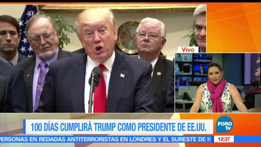 Retos que afrentó Trump en primeros 100 días como presidente de EU