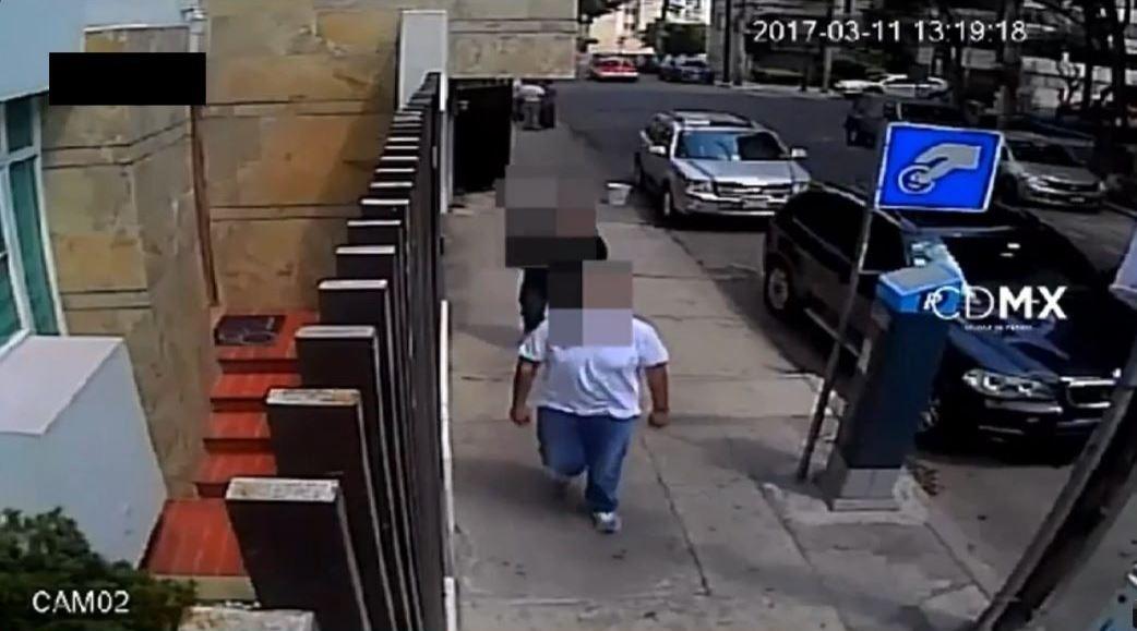 Imagen de las cámaras de vigilancia de la Ciudad de México.