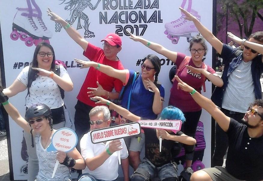 Se reunieron personas de todas las edades en la Segunda Edición de la Rolleada Nacional 2017 en la Ciudad de México, algunos de gran experiencia y otros solo aficionados (Twitter @Axlcuervo)