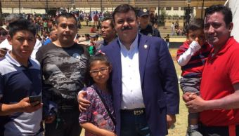 Niños, Policias, Preventivos, Ciudad, Mexico, Feria