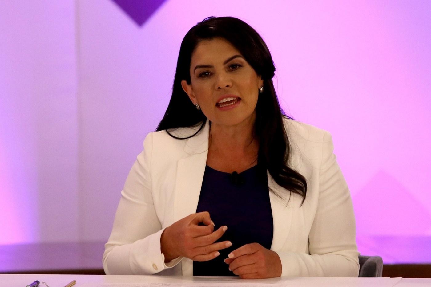 Teresa Castell, candidata Independiente a la gubernatura del Estado de México. (Notimex)