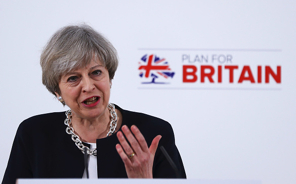 Theresa May, primera ministra británica. (Getty Images)