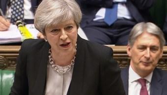 La primera ministra británica, Theresa May, dirigiéndose a la Cámara de los Comunes en Londres (Reuters)