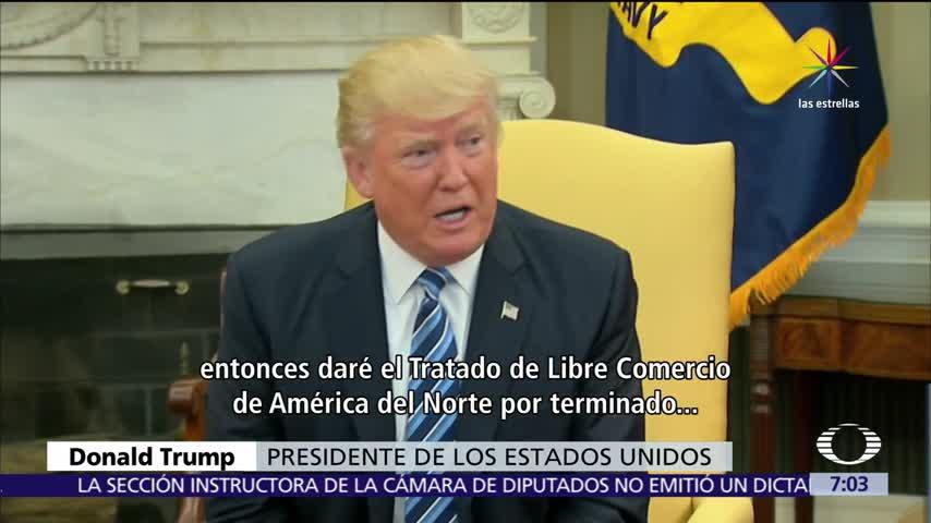Trump admite que salida del TLC sería un shock para EU