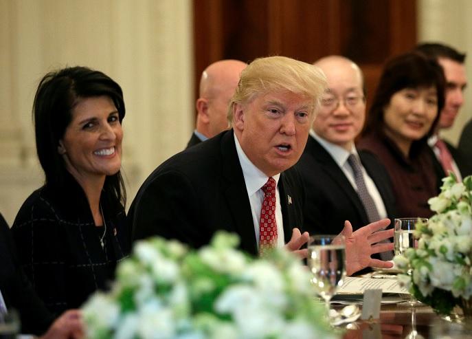 Donald Trump se reúne con embajadores del Consejo de Seguridad de la ONU en la Casa Blanca en Washington, Estados Unidos (Reuters)