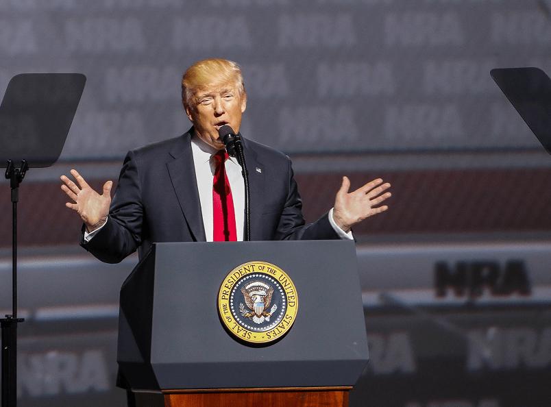 Trump en la convención de la Asociación Nacional del Rifle. (EFE)