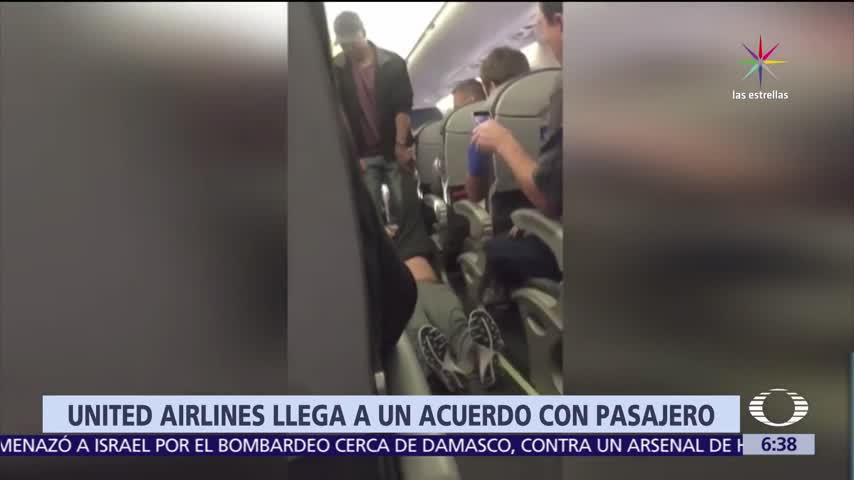 United Airlines alcanza acuerdo con pasajero expulsado de avión