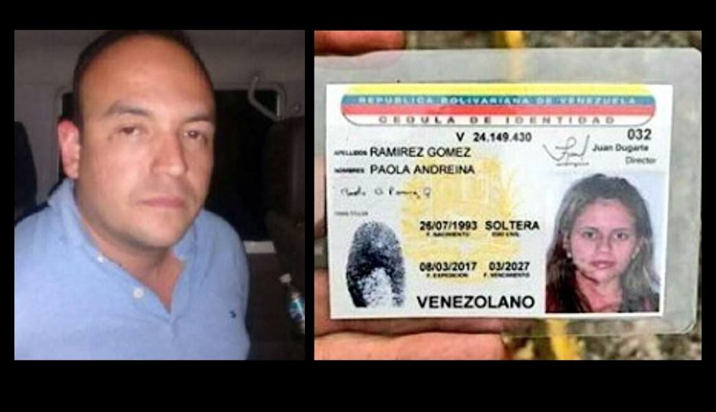 Iván Perníam (i) está detenido por su presunta responsabilidad en el asesinato de Paola Ramírez (d) durante una marcha en el estado Táchira, Venezuela. (@Orlenys07)