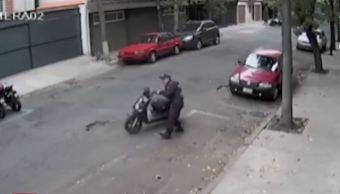 Policia, motoneta, venganza, video, corralon, CDMX