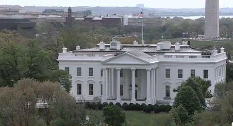 Fotografía de la Casa Blanca. (Tomada de Video)