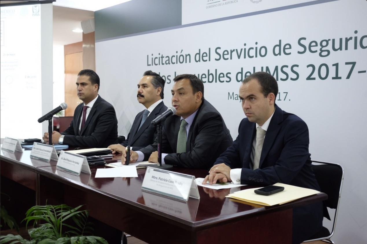 funcionarios del IMSS hablan de la licitacion de seguridad