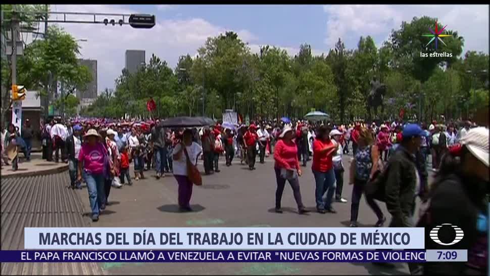 policías, Día del Trabajo, contingentes, Zócalo